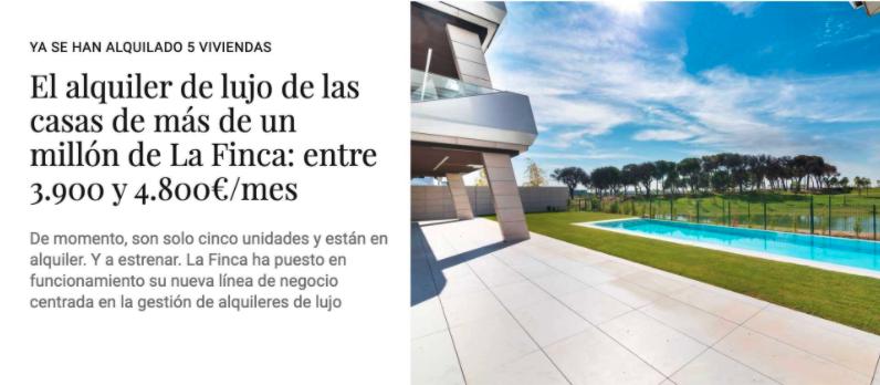 Alquiler de lujo en Madrid